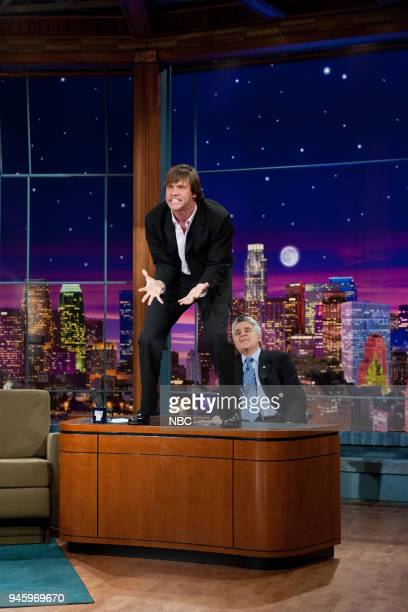 Actor Jim Carrey during an interview with host Jay Leno on May 15 2003