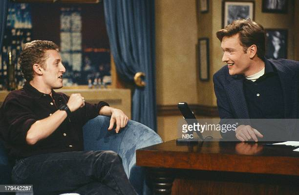 Actor Alex Winter during an interview with host Conan O'Brien on October 15 1993