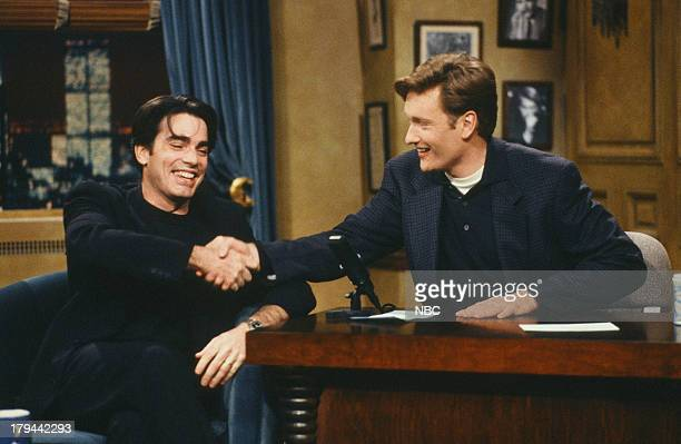 Actor Peter Gallagher during an interview with host Conan O'Brien on October 15 1993