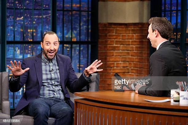 Actor Tony Hale during an interview with host Seth Meyers on August 19 2015