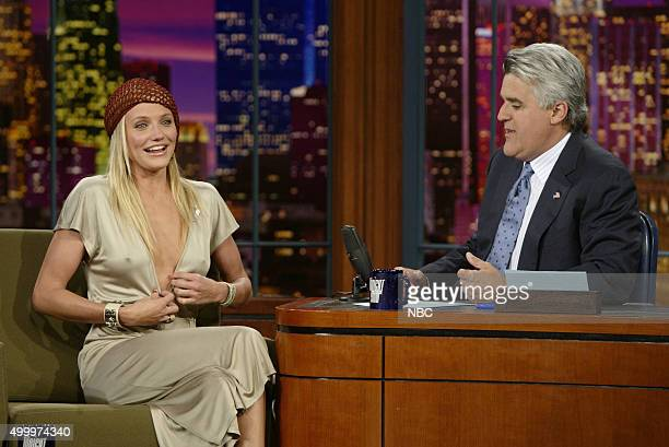 Actress Cameron Diaz during an interview with host Jay Leno on June 23 2003