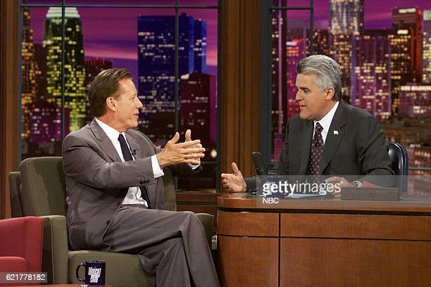 Actor James Woods during an interview with host Jay Leno on July 8 2003