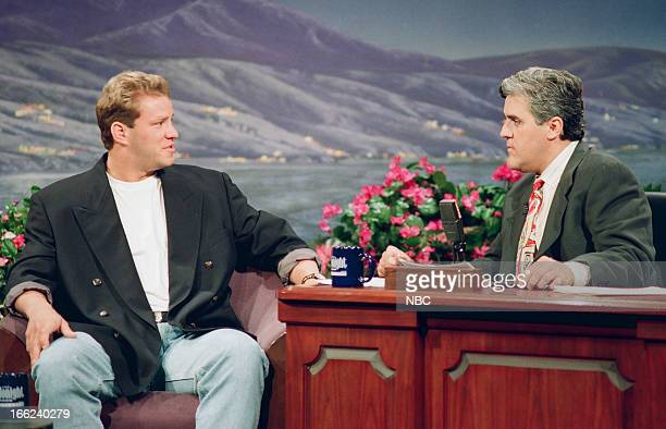 Boxer Tommy Morrison during an interview with host Jay Leno on June 22 1993