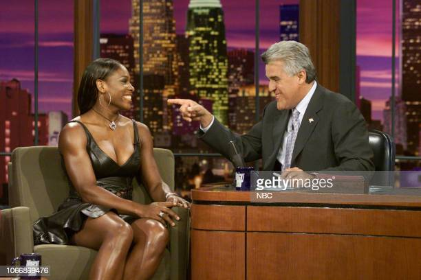 Professional tennis player Serena Williams during an interview with host Jay Leno on July 15 2003