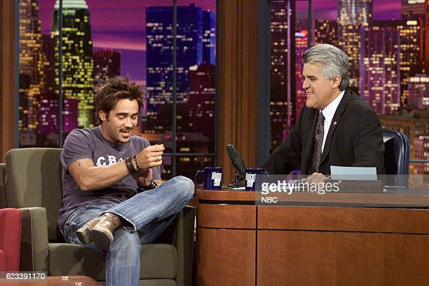 Actor Colin Farrell during an interview with host Jay Leno on July 31 2003