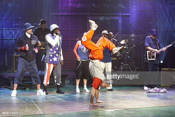 Taboo william Fergie and apldeap of musical guest The Black Eyed Peas perform on August 4 2003