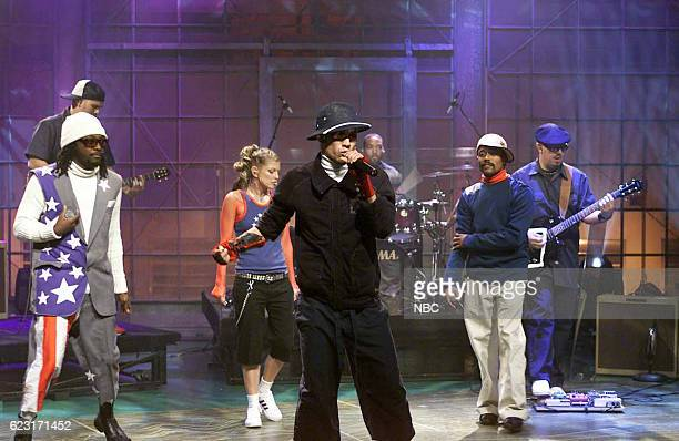 william Fergie Taboo and apldeap of musical guest The Black Eyed Peas perform on August 4 2003
