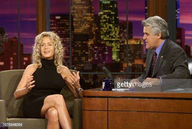 Actress Farrah Fawcett during an interview with host Jay Leno on September 10 2003
