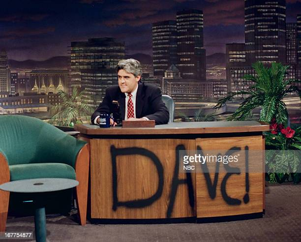Host Jay Leno onstage August 30 1993