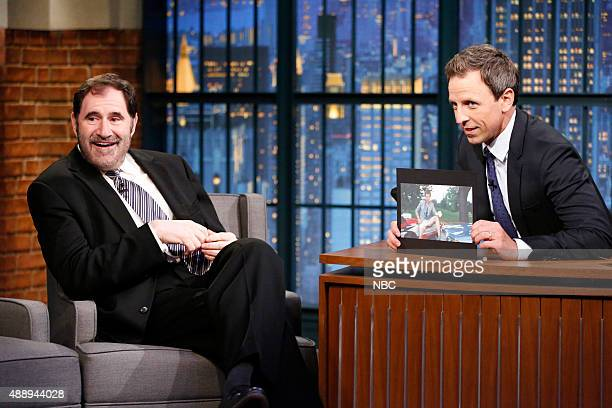 Actor Richard Kind during an interview with host Seth Meyers on September 18 2015