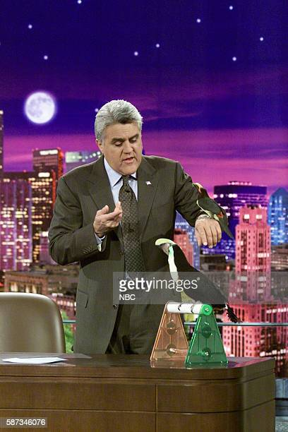 Host Jay Leno during a segment