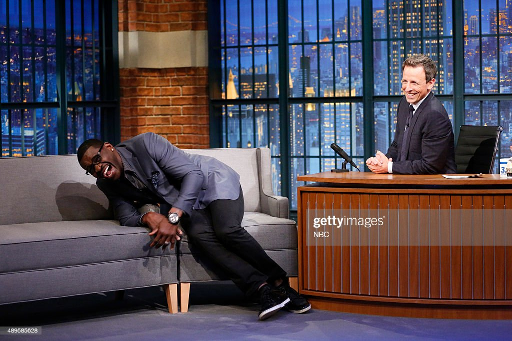 """NBC's """"Late Night with Seth Meyers"""" With Guests Patrick Stewart, Michael Irvin, Governor John Kasich, George Ezra"""