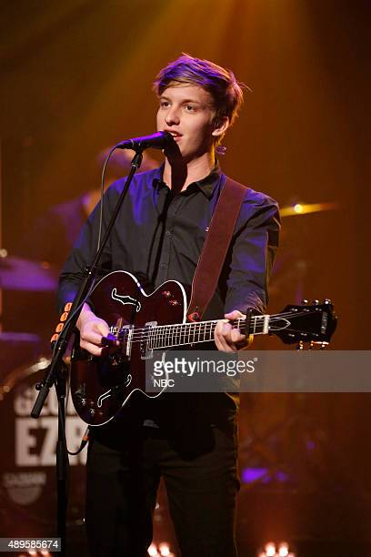 Musical guest George Ezra performs on September 22 2015