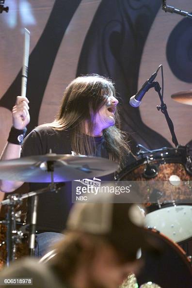 Greg Upchurch of the band Puddle of Mudd performs on January