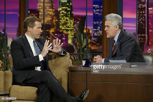 News anchor Brian Williams during an interview with host Jay Leno on March 2 2004