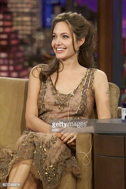 Actress Angelina Jolie during an interview on March 16 2004