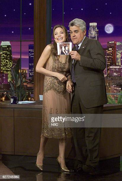 Actress Angelina Jolie during an interview with host Jay Leno on March 16 2004