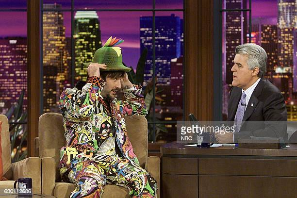 Actor David Arquette during an interview with host Jay Leno on March 31 2004