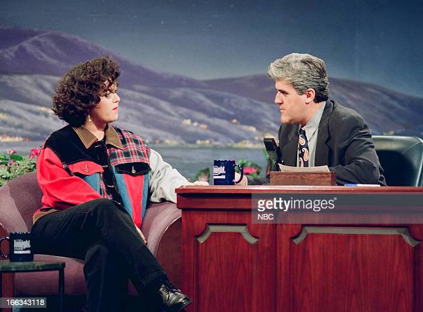 Talk show host Rosie O' Donnell during an interview with host Jay Leno on July 21 1993