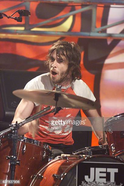 Chris Cester of musical guest Jet performs on April 9 2004