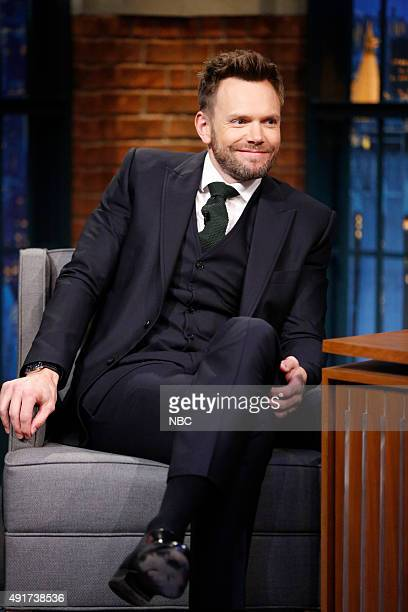 Actor Joel McHale during an interview on October 7 2015
