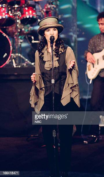 Musical guest Kelly Moneymaker of Expose performs on July 26 1993