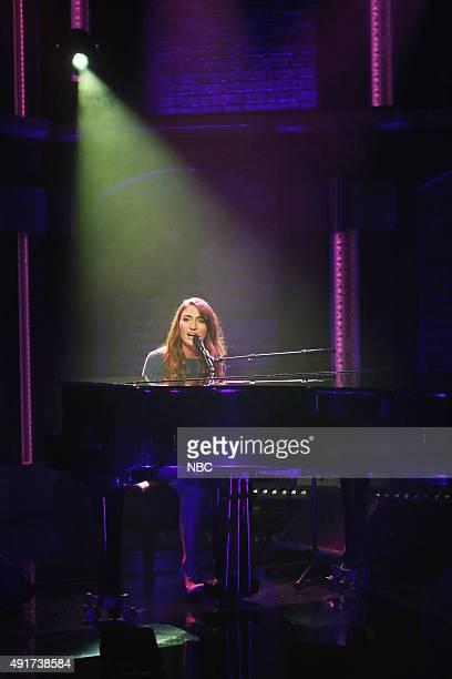 Musical guest Sara Bareilles performs on October 7 2015