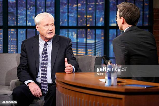 Hardball host Chris Matthews during an interview with host Seth Meyers on October 14 2015