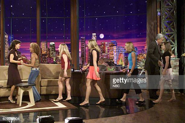 Episode 2767 -- Pictured: Actress Reese Witherspoon greets 2004 Olympic gymnastics team August 31, 2004 --