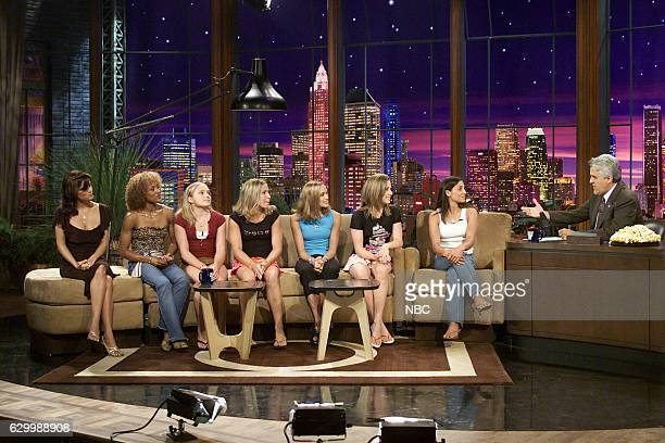 Actress Reese Witherspoon with the 2004 US Woman's gymnastic team Annia Hatch Courtney McCool Terin Humphrey Courtney Kupets Courtney McCool Carly...