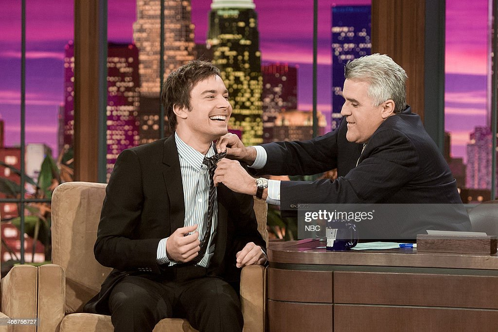 Jimmy Fallon during an interview with host Jay Leno on September 22, 2004 --