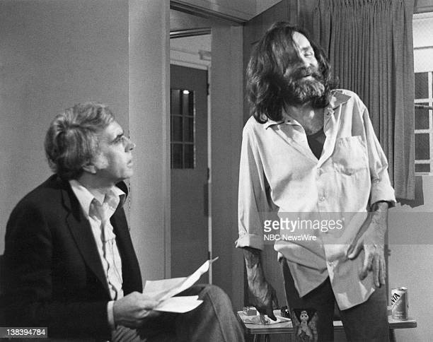 COAST Episode 28 Air Date 06/12/81 Pictured Host Tom Snyder in an exclusive interview with convicted mass murderer Charles Manson currently serving a...