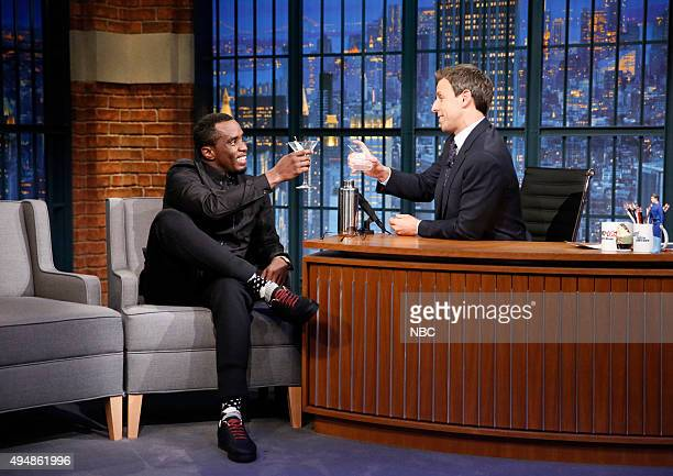 Musician Sean Diddy Combs during an interview with host Seth Meyers on October 29 2015