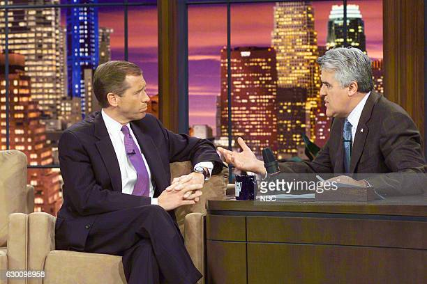 News anchor Brian Williams during an interview with host Jay Leno on November 19 2004