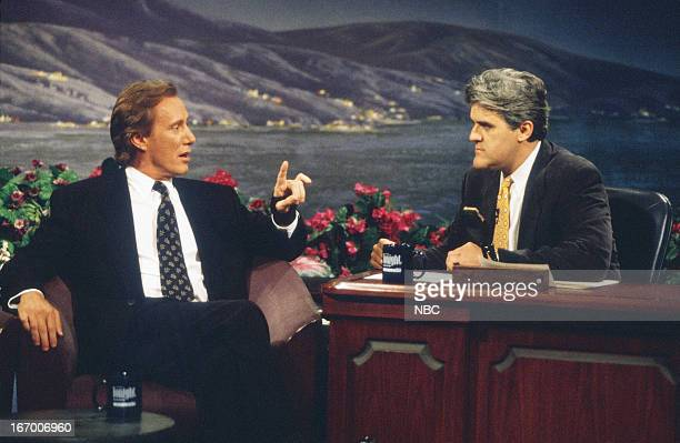 Actor James Woods during an interview with host Jay Leno on August 13 1993