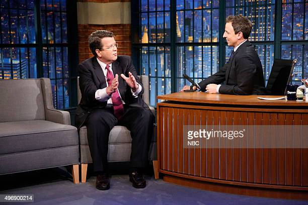 Episode 287 -- Pictured: Fox Business Network's Neil Cavuto during an interview with host Seth Meyers on November 11, 2015 --