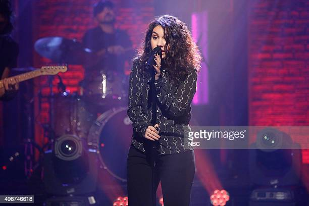 Musical guest Alessia Cara performs on November 11 2015