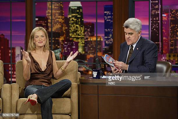 Model Carolyn Murphy during an interview with host Jay Leno on February 16 2005