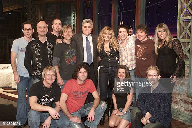 Episode 2881 -- Pictured: Host Jay Leno and singer Jamie O'Neal and friends on February 22, 2005 --