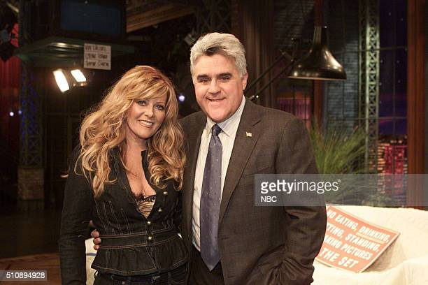 Episode 2881 -- Pictured: Singer Jamie O'Neal and host Jay Leno on February 22, 2005 --