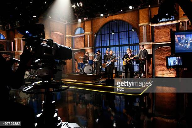 Emily Armstrong from 'Dead Sara' sits in with 8G Band members Fred Armisen Syd Butler Seth Jabour Marnie Stern Eli Janney on November 18 2015