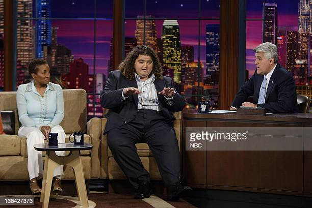 LENO Episode 2925 Air Date Pictured Comedian Wanda Sykes actor Jorge Garcia during an interview with host Jay Leno on May 2 2005