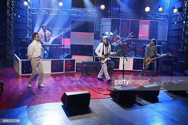 Musical guest Beck performs on May 6 2005
