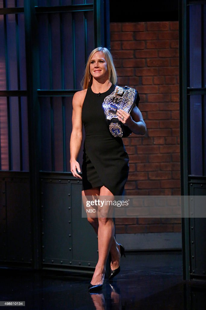 "NBC's ""Late Night with Seth Meyers"" With Guests Governor Sarah Palin, David Tennant, Holly Holm, Cast of Spring Awakening"