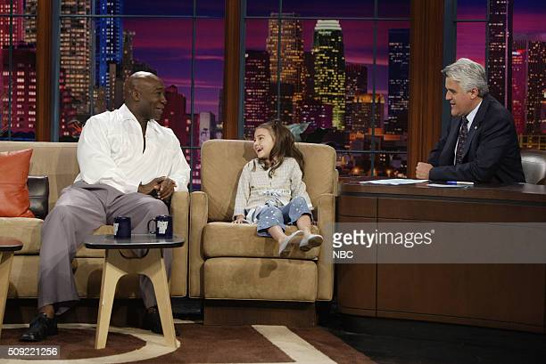 Actor Michael Clarke Duncan and actress Ariel Gade during an interview with host Jay Leno on July 5 2005