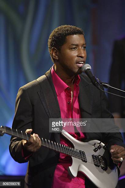 Musician Babyface performs on July 19 2005