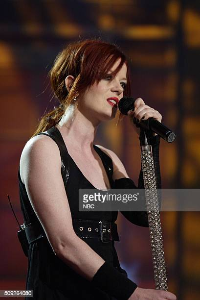 Singer Shirley Manson of the band Garbage performs on july 28 2005