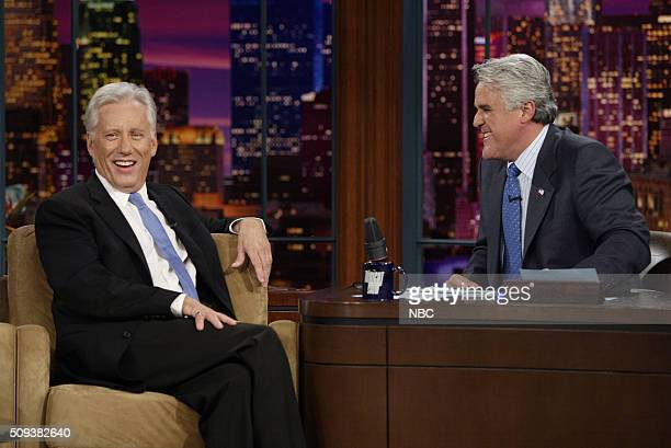 Actor James Woods during an interview with host Jay Leno on August 9 2005