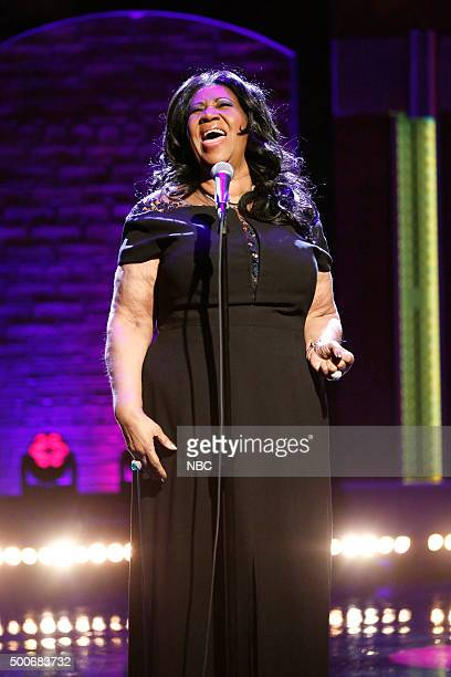 Musical guest Aretha Franklin performs on December 9 2015