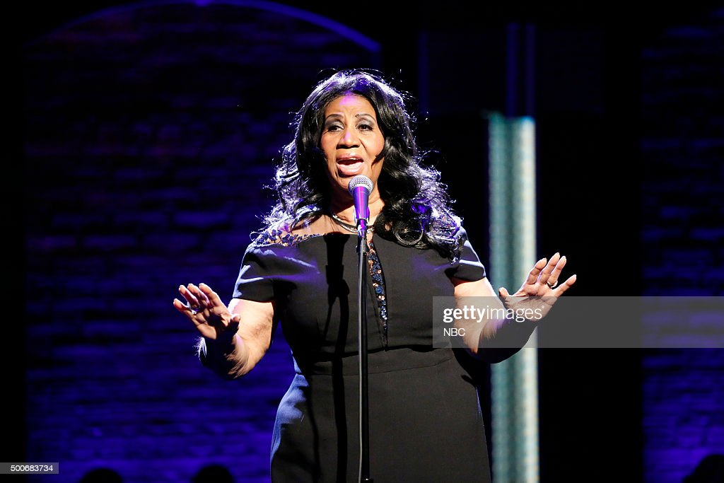 """NBC's """"Late Night With Seth Meyers"""" With Guests Adam Driver, Jesse Piemons, Aretha Franklin"""